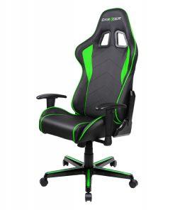 OH/FL08/NE-DXRacer Formula FL08 Gaming Chair - Sparco Style Neck/Lumbar Support Black & Green