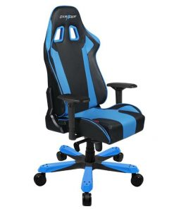 OH/KS06/NB-DXRacer King KS06 Gaming Chair - Neck/Lumbar Support Black & Blue