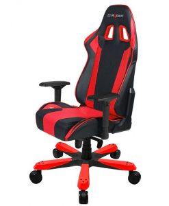 OH/KS06/NR-DXRacer King KS06 Gaming Chair - Neck/Lumbar Support Black & Red