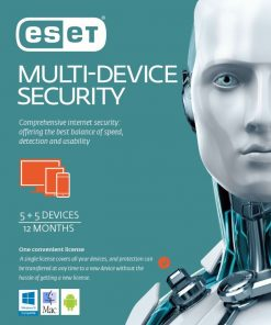 ES-EMDSR51Y-ESET Multi Device Security 5 Windows PCs or Macs or Linux + 5 Android Mobile Devices 1 Year Download Card