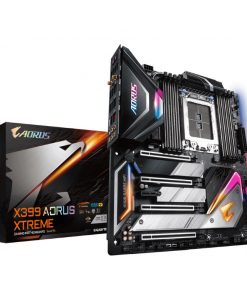 GA-X399-AORUS-XTREME-Gigabyte X399 AORUS XTREME E-ATX MB TR4 AMD ThreadRipper 2 8xDDR4 5xPCIe 3xM.2 RAID 2xIntel GbE+10GbE LAN WiIFi BT 4xCF/SLI 1xUSB-C 8xUSB3.1 RGB