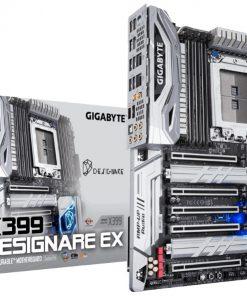 GA-X399-DESIGNARE-EX-Gigabyte X399 DESIGNARE EX ATX MB TR4 AMD ThreadRipper 2 8xDDR4 5xPCIe 3xM.2 RAID 2xIntel GbE LAN WiIFi BT 4xCF/SLI 3xUSB-C 3xUSB3.1 8xSATA RGB