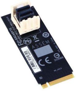 "M2-U2-MINISAS-Gigabyte M2-U2-MINISAS M.2 to U.2 Mini SAS Add-on Card Adapter for Intel 2.5"" SSD NVMe PCIe 3.0 Gen3x4 SFF-8639"