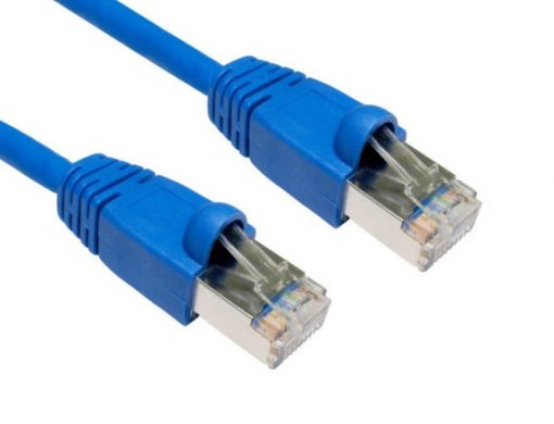 HCAT6ABL1.5-Hypertec CAT6A Shielded Cable 1.5m Blue Color 10GbE RJ45 Ethernet Network LAN S/FTP Copper Cord 26AWG LSZH Jacket