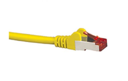 HCAT6AYL0.5-Hypertec CAT6A Shielded Cable 0.5m Yellow Color 10GbE RJ45 Ethernet Network LAN S/FTP Copper Cord 26AWG LSZH Jacket