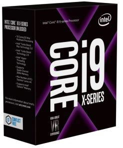BX80673I97900X-Intel Core X i9-7900X 3.3Ghz Skylake-X 10-Core s2066 13.75MB Cache 140W No Fan Unlocked X299 MB required Retail Boxed 3 Years Warranty
