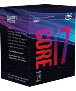 BX80684I78700K-Intel Core i7 8700K 3.7Ghz (4.7GHz Turbo) LGA1151 8th Gen 12MB 6-Core 12-Thread 95W HD Graphics 630 Unlocked Retail Box no heatsink fan Coffee Lake LS