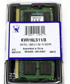 KVR16LS11/8-Kingston 8GB (1x8GB) DDR3L SODIMM 1600MHz 1.35V / 1.5V Dual Voltage ValueRAM Single Stick Notebook Memory