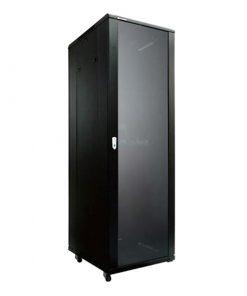 NCB42-66-BDA-LinkBasic 42RU 600mm Depth Server Rack Glass Door with 2x240v Fans and 8-Port 10A PDU