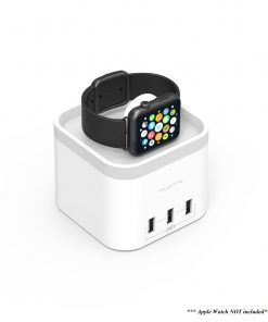 MB-CHGR-C58W-mbeat® Power Time Apple Watch Charging Dock with 3 Extra Smart Charging Ports