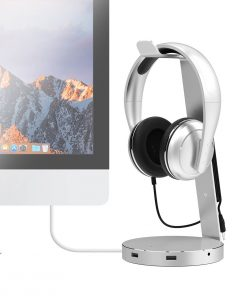 "MB-HPS-01S-mbeat ""ZACK"" Aluminium Headphone Stand with 3.0 Hub and Audio - 4xUSB 3.0"