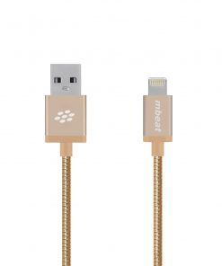 """MB-ICA-GLD-mbeat® """"Toughlink"""" Gold 1.2m Metal Braided MFI Lightning Cable"""
