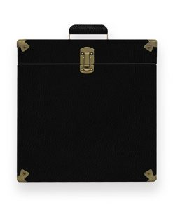 MB-TRC-01-mbeat Vinyl Record Storage Carrier Case (Vintage Black)