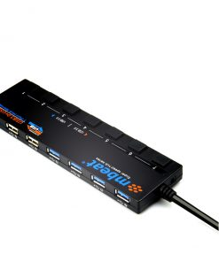 USB-M43HUB-mbeat® 7-Port USB 3.0 & USB 2.0 Powered Hub Manager with Switches - 4x USB 3.0 with 5Gbps/3x USB 2.0 with 2.4Ghz(480Mbps)/Super Fast Hub Manager