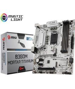 B360M MORTAR TITANIUM-MSI B360M MORTAR TITANIUM mATX Motherboard - S1151 8Gen 4xDDR4 4xPCI-E