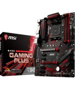 B450 GAMING PLUS-MSI B450 GAMING PLUS AM4 Ryzen ATX Motherboard 4x DDR4 6x PCIE 1xTurbo M.2  DVI HDMI RAID GbE LAN 6x SATA3 6x USB3.1