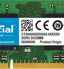 CT102464BF160B-Crucial 8GB (1x8GB) DDR3 SODIMM 1600MHz 1.35/1.5V Dual Voltage Single Stick Notebook Laptop Memory RAM