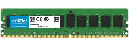 CT16G4RFD8266-Crucial 16GB (1x16GB) DDR4 RDIMM 2666MHz CL19 ECC Registered Single Stick Server Desktop PC Memory RAM ~ KVR24R17D8/16I ~KVR24R17D4/16I