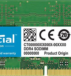 CT16G4SFD8266-Crucial 16GB (1x16GB) DDR4 SODIMM 2666MHz CL19 Single Stick Notebook Laptop Memory RAM