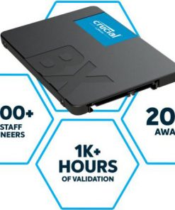 "CT480BX500SSD1-Crucial BX500 480GB 2.5"" SATA3 6Gb/s SSD - 3D NAND 540/500MB/s 7mm 1.5 mil MTBF 3yr wty Acronis True Image Solid State Drive"