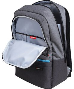 """ASCEND-BP.GREY-Promate Ascented-BP 15.6"""" Laptop Backpack With Multiple Pockets - Grey"""