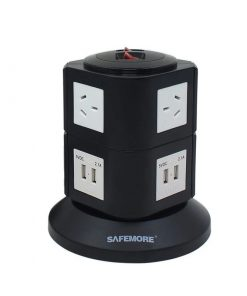 SM-GL2U002-BW-Safemore 2 Level Power Stacker Power Board in Black and White