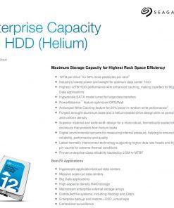 ST12000NM0027-Seagate 12TB Enterprise SAS ENT CAP 3.5' 7200RPM HDD.