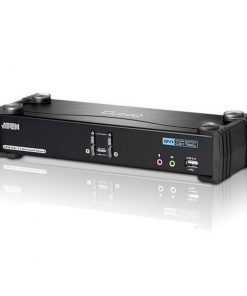 CS1782A-AT-U-Aten 2 Port USB Dual-Link DVI KVMP Switch with 7.1 Audio and USB 2.0  Hub - Cables Included