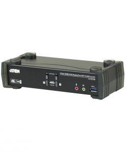 CS1922M-AT-U-Aten 2 Port USB 3.0 4K DisplayPort KVMP Switch w/Built-in MST Hub