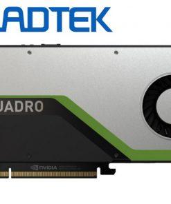RTX4000-Leadtek nVidia Quadro RTX4000 PCIe Workstation Card 8GB GDDR6 3xDP1.4 5K 4x4096x2160@120Hz 1xVirtualLink 256-Bit 416GB/s 2304 Cuda 288 Tensor 36 RT