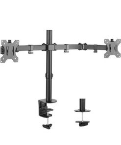 BT-LDT12-C024N-Brateck  Dual Monitor Economy Steel Monitor Arm 13''-32''