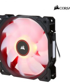 CO-9050080-WW-Corsair Air Flow 120mm Fan Low Noise Edition / Red LED 3 PIN - Hydraulic Bearing