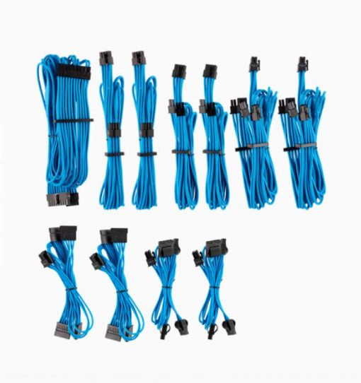 CP-8920225-For Corsair PSU - BLUE Premium Individually Sleeved DC Cable Pro Kit