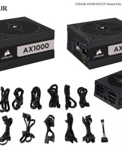 CP-9020152-AU-Corsair 1000W AX Series 80 PLUS Titanium Fully Modular ATX Power Supply 10 Years Warranty