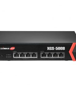 XGS-5008-Edimax 8-Port 10GbE WebSmart Switch - 8x 10 Gigabit Ethernet Ports/ ACL Support/ 160Gbps/119Mpps/Supports IEEE802.1p QoS/1RU Rack Mount/Desktop Case