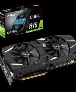 DUAL-RTX2060-O6G-ASUS nVidia DUAL-RTX2060-O6G GeForce RTX2060 OC Edition 6G GDDR6