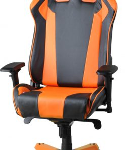 OH/KS06/NO-DXRacer King KS06 Gaming Chair Black & Orange - Neck/Lumbar Support/PU Leather/Large Size Seat/Office/Gaming Ergonomic/Head and Lumbar Support Pillows