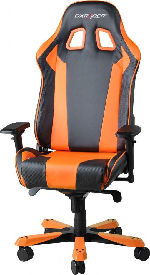 OH/KS06/NO-DXRacer King KS06 Gaming Chair - Neck/Lumbar Support Black & Orange