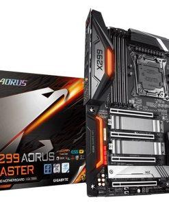 GA-X299-AORUS-MASTER-Gigabyte X299 AORUS Master LGA2066 12 Phases Digital VRM 8xDDR4 4xPCIe3.0 3xM.2 RAID Intel GbE LAN 8xthSATA USB3.1 Type-C Thunderbolt CF/SLI 2xwaRGB