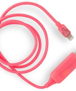 CK-VS801L-PN-#zVisible Flowing USB Lightning Charging Cable - Pink
