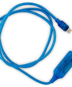 CK-VS802-BL-#zVisible Flowing Micro USB Charging Cable - Blue