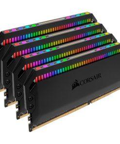 CMT32GX4M4Z3200C16-Corsair Dominator Platinum RGB 32GB (4x8GB) DDR4 3200MHz CL16 DIMM Unbuffered 16-18-18-36 XMP 2.0 Base SPD@2666 Black Heatspreaders 1.35V AMD Ryzen