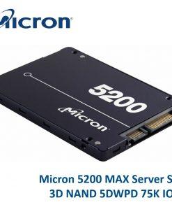 """MTFDDAK480TDN-1AT1ZABYY-Micron 5200 MAX 480GB 2.5"""" SATA3 6Gbps 7mm Server Data Centre SSD 3D TLC NAND 540R/460W MB/s 93K/70K IOPS 5DWPD 3 Mil hrs 5yrs"""