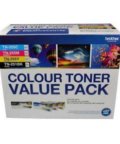N8AE00003-TN251BK & TN255CLPK-Brother  TN-251BK and TN255 Colour Laser Toner Value Pack. Black