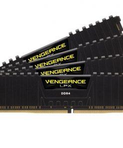 CMK64GX4M4A2400C14-Corsair 64GB (4x16GB) DDR4 2400MHz Vengeance LPX Black