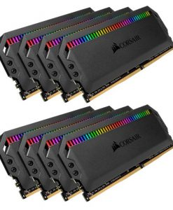 CMT128GX4M8X3600C18-Corsair Dominator Platinum RGB 128GB (8x16GB) DDR4 3600MHz CL18 DIMM Unbuffered 18-19-19-39 XMP 2.0 Black Heatspreaders 1.35V Desktop PC Gaming Memor