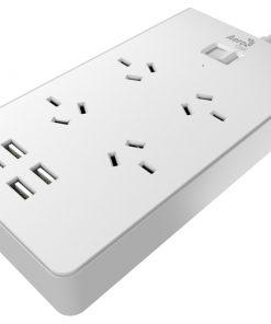 ACAS-QA4A4U2-21-Aerocool ASA QA4A4U2 Power Board w/ 4 AC Outlet and 4 USB Charging Ports