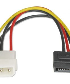 AT-SATA-PWR-Astrotek SATA Power Cable 15cm 4 pins Male to 15 pins Female 18AWG RoHS LS