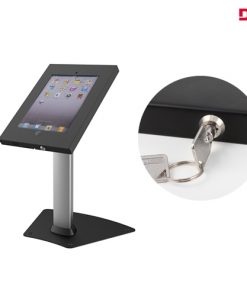 "BT-PAD12-04AL-Brateck Anti-Theft Secure Enclosure Countertop Stand for iPad- Black with Adjustable Height Functio For 9.7"" iPad/iPad Ai"