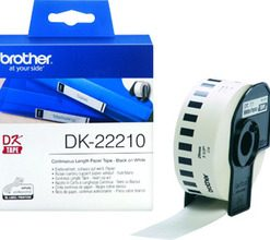 DK-22210-Brother White Cont. Paper Roll Direct Thermal Roll 2.9x 30.5m